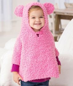 Playful Hooded Poncho