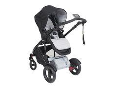 E-brake stroller silver angle