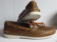 """#shoes men Sperry Top-Sider leather loafers size 10.5 M """"1-EYE CYCLONE EARTH"""" New in Box withing our EBAY store at  http://stores.ebay.com/esquirestore"""