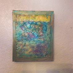 """Lynda Bleyberg. 'Sea and Sand'. Mixed media on box canvas. 12""""x 9"""". For Sale £250 including shipping. Email: lyndableybergart.co.uk"""