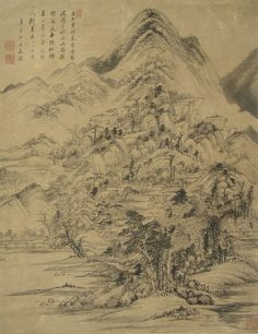 Wang Jian(王鑒) ,  清 王鉴 山水图轴