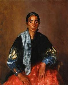 """Gitana Vieja"" (""Madre Gitana""), Robert Henri, 1912, oil on canvas, 41 x 33"", Westmoreland Museum of American Art."