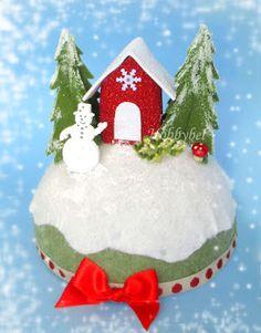 HOBBYBEL blog & youtube Xmas Decorations, Tutorial, Christmas Ornaments, Holiday Decor, Youtube, Blog, Home Decor, Embellishments, Feltro