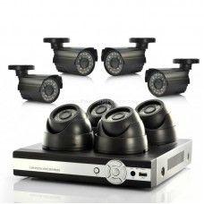 DVR Surveillance System 4 Indoor CCTV Cameras, 4 Outdoor, H264 DVR