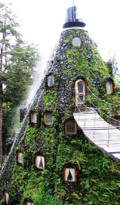 Montaña Mágica Lodge is located on the Huilo-Huilo Biological Reserve next to a volcano. A spectacular outdoor adventure in Chile!