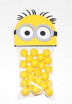 Despicable me Minion Favor Party Bags perfect for by pinchmycheeks, $20.00