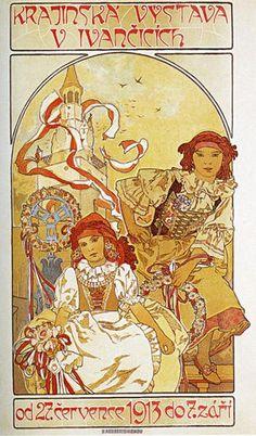 Alfons Maria Mucha :  Regional Exhibition in Ivancice 1912年