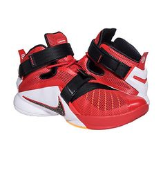 a94ad55470fb NIKE MENS LEBRON SOLDIER IX SNEAKER Red Lebron James Signature