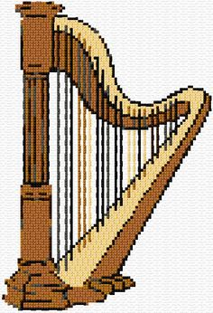Cross Stitch | Harp xstitch Chart | Design
