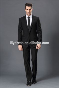 Black One Button Single Vent Custom Made Tailored Mans Formal Suits Sets Designs (jacket+pants+tie) Ws002 Business Formal Suits - Buy Business Formal Suits,Designer Business Suits Women,Latest Design Coat Pant Men Suit Product on Alibaba.com