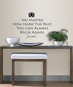 Another great find on #zulily! Begin Again Peel & Stick Wall Quote Set by WallPops! #zulilyfinds