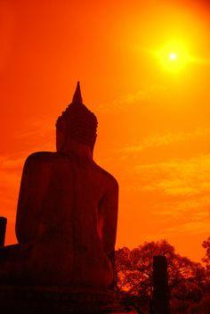 Sukhothai, Thailand #thailand #sun #buddha