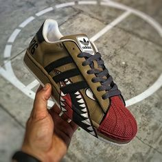 "Custom Adidas Superstar II ""WarBird"" Dee || Follow @filetlondon for more street wear #filetlondon"