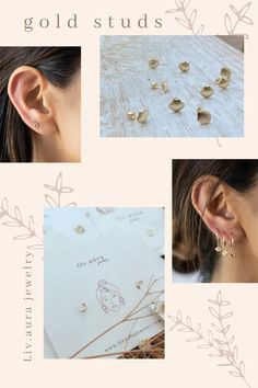 10k solid gold minimalist dainty studs,screw back gold studs earrings, screw back studs earrings,boho line stick earrings,geometric stud,flat bar studs. Our studs are the most minimalist and beautiful pieces that everyone needs in their collection. Wear them day or night, up or down, the perfect studs, by themselves or mixed. Hypo-allergenic, lightweight and minimalist. The dainty size is perfect for layering if you have multiple piercings. Arrow Earrings, Moon Earrings, Dainty Earrings, Stud Earrings, Star Jewelry, Gold Jewelry, Gold Studs, Solid Gold, Layering