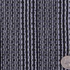 Navy and Black Soft Tweed-like Wool Blend