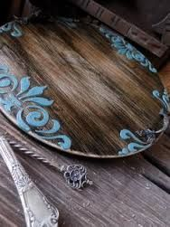 33 Best Country Wooden Home - Room Dekor 2021 Decoupage Furniture, Paint Furniture, Furniture Makeover, Sculpture Painting, Painting On Wood, Do It Yourself Furniture, Decoupage Vintage, Handmade Kitchens, Wood Tray