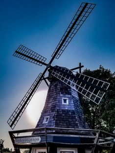 Early windmills looked rather different from today's sleek monoliths. Pella is one of many towns in Iowa that celebrates the Dutch windmill traditions with a popular tourist trade. Dutch Windmill, D Day, Windmills, Iowa, Roads, Wanderlust, Popular, Building, Travel