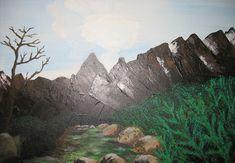 Akryl - Krajobraz tatrzański Modern Art, Painting, Mountains, Nature, Travel, Naturaleza, Paintings, Viajes, Contemporary Art