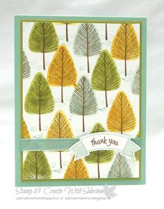 Stamp & Create With Sabrina:  2016 Holiday Catalogue Sneak Peek - Totally Trees 2