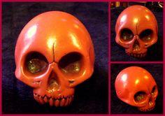 HELLFIRE SKULL Halloween Face Makeup, Skull, Sculpture, Sculptures, Sculpting, Statue, Skulls, Sugar Skull, Carving