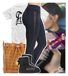 """ian dissin on nobody v , i'm vibin on the beat"" by lamamig ❤ liked on Polyvore featuring Concord, MCM, Forever 21 and UGG Australia"