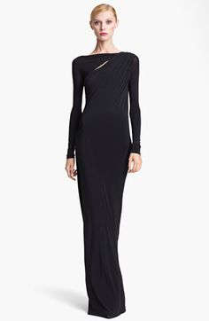 Donna Karan Collection Jersey Column Gown