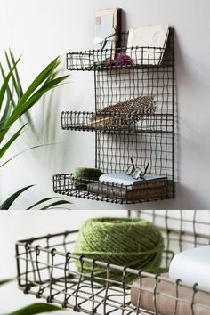 A chic, contemporary wire shelf unit which will look perfect free standing or attached to the wall, in any room in the house. Visit our online store and discover more amazing home decor details and sccessories. Home Interior Accessories, Happy Jar, Small Shelves, Wire Shelving, Elegant Homes, Rustic Furniture, Industrial Style, Home Goods, The Unit