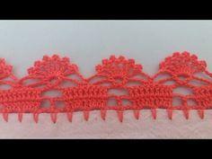 Neuma Nascimento shared a video Crochet Edging Patterns, Crochet Lace Edging, Crochet Borders, Doily Patterns, Crochet Trim, Filet Crochet, Crochet Doilies, Crochet Stitches, Knitting Patterns
