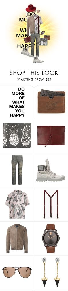 """""""Unbenannt #349"""" by eveangeline ❤ liked on Polyvore featuring Herschel Supply Co., Dolce&Gabbana, Topman, Balmain, Palladium, Over All MasterCloth (OAMC), Dsquared2, Herno, Movado and Tom Ford"""