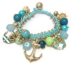 SEASHORE BRACELET IN AQUA AND BLUE-- From BaubleBabe Jewelry.-- $10.95