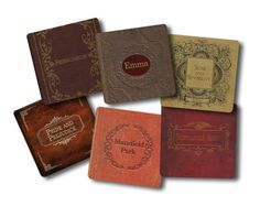 Jane Austen Books Coaster Set 6 piece set by NeuronsNotIncluded