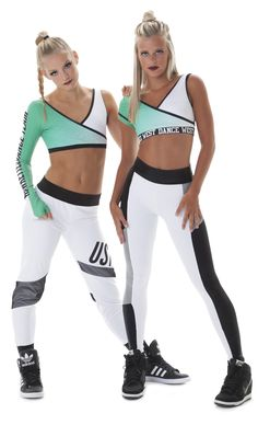 Black and white standout hip hop dance costumes.  Add lettering to represent you team.  Check out the full list of Top 9 Hip Hop Dance Costume Trends on The Line Up's blog!