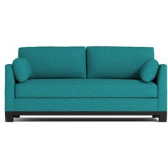 Apt2B Avalon Ocean Blue Sofa ($1,388) ❤ liked on Polyvore featuring home, furniture and sofas