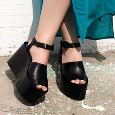 Jeffrey Campbell CHYNNA сабо на танкетке женские купить в магазине стильной обуви CabLOOK.ru