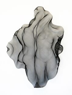 "E Boyer, ""Ascension XV"" Steel Wire Mesh,  35 x 25 x 7, SOLD"