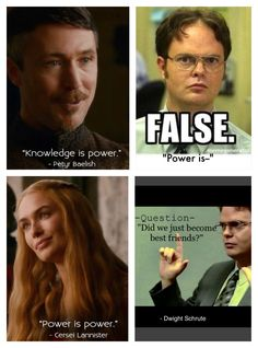 FACT: Power is power.     Game of Thrones funny meme