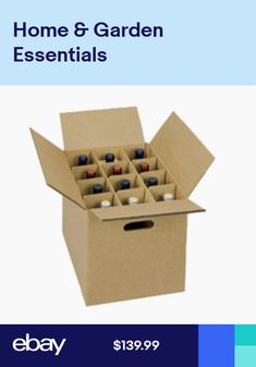 0099ef5c4b1 Wine Carrier Box with handles holds 12 Bottles with inserts - Fast shipping