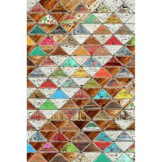 Add a pop of pattern to your entryway or living room with this eye-catching canvas print, showcasing a triangle geometric motif and multicolor hue. ...