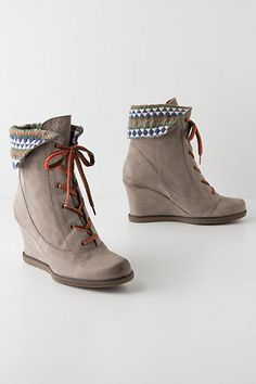 Textile Study Wedge Boots #anthropologie