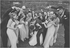 fun wedding party photo