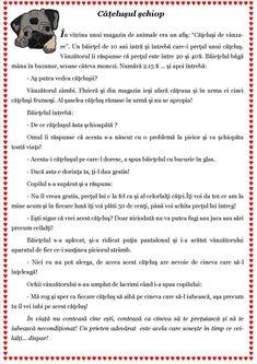 Texte despre toleranță. Scurte povestiri cu valoare educativă Visual Perceptual Activities, Romanian Language, Curriculum, Homeschool, School Lessons, Worksheets For Kids, Working Moms, Kids Education, Toddler Activities