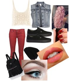 """""""red and black always works"""" by irishprinces on Polyvore"""