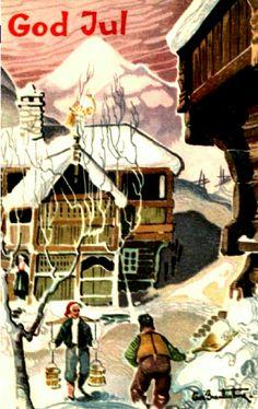Julekort Odd Brantenberg Utg Oppi Stemplet 1956