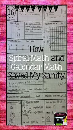 A blog post explaining the benefits of spiral math and calendar math in an upper elementary classroom.  (with freebie!)