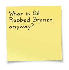 "Is it ""rubbed with magical oil by holy men in the lost city of Bronzia""? Bronze Kitchen, Kitchen Faucets, Buy Tools, Lost City, Lowes Home Improvements, Sticky Notes, Oil Rubbed Bronze, Spaces, Lowes Paint Colors"