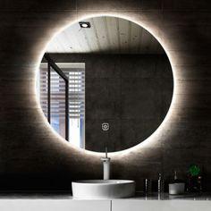 Circle Light, Led Mirror, Glass Company, Pool Houses, Home Decor Inspiration, New Homes, Interior, Bathrooms, Decoration