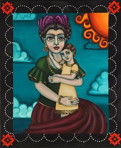 Folk Art Painting - Holding Diegito by Victoria De Almeida Victoria Art, Mexican Art, Painting, Folk Art, Greeting Cards, Fictional Characters, Inspiration, Muse, Mexico