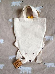 Bag-and-white bear - image