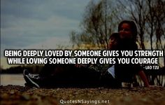 Love and being loved …
