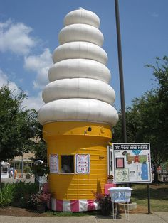 Single cone stand in Louisville, Kentucky.